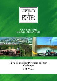 The Rural Policy - College of Social Sciences and International ...