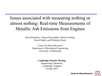 Issues associated with measuring nothing - Cambridge Particle ...