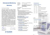 Hämodynamik-Monitoring Workshop - PULSION Medical Systems SE