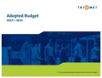 FY14 Adopted Budget PDF - TriMet