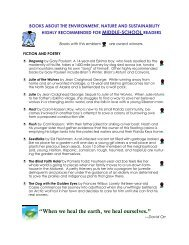 Middle School Nature Book Recommendations.pub