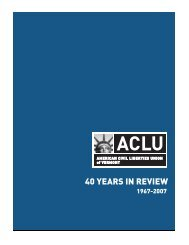 40th Anniversary Review - American Civil Liberties Union (ACLU) of ...