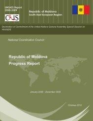 Moldova - 2010 Country Progress Report - unaids