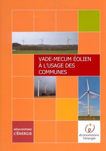 VADE-MECUM ÉOLIEN À L'USAGE DES COMMUNES - APERe