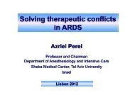Solving therapeutic conflicts in ARDS - PULSION Medical Systems SE