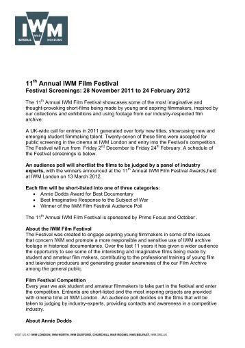 11 Annual IWM Film Festival