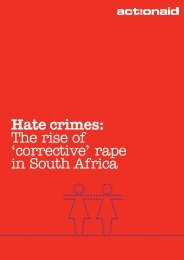 Hate crimes: The rise of 'corrective' rape in South Africa - Rape Outcry