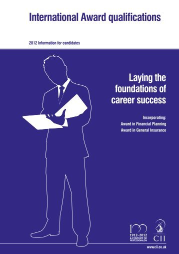 International Award qualifications - The Chartered Insurance Institute