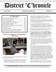 DISTRICT CHRONICLE SEPTEMBER EDITION NO - Hamilton ...