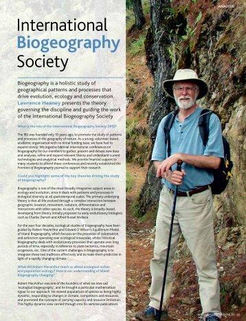 PDF - The International Biogeography Society