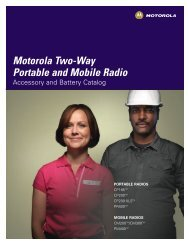 Accessory and Battery Catalog - Motorola Solutions