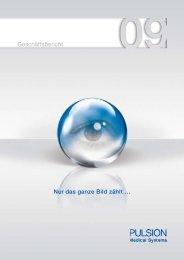 Geschäftsbericht 2009 - PULSION Medical Systems SE