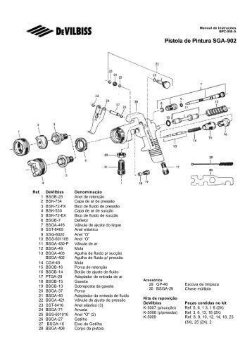 Pistola de Pintura SGA-902 - Raoli