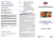 Introduction to the Industrial Manufacturing of Snacks July 19 - 21 ...