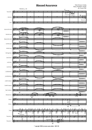Blessed Assurance - Score.MUS - Lucerne Music Edition