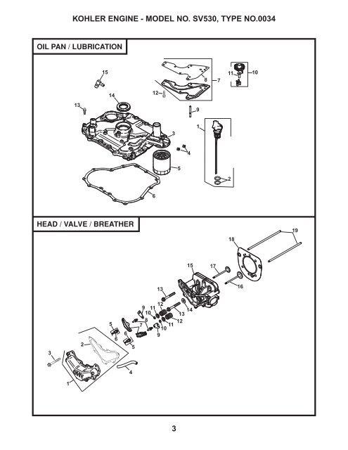 KOHLER ENGINE - MODEL NO