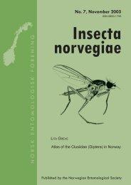 Insecta norvegiae - Norsk entomologisk forening