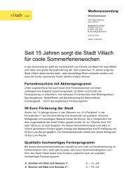 Seit 15 Jahren sorgt die Stadt Villach für coole Sommerferienwochen