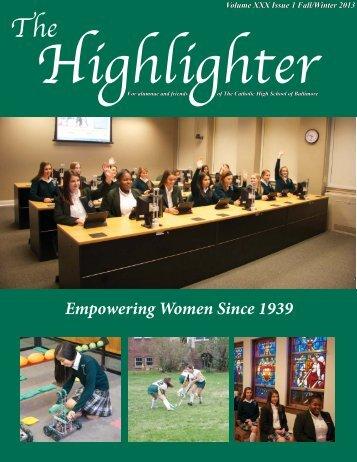HighlighterFall/Winter2013 - The Catholic High School of Baltimore
