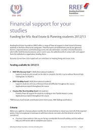 RREF Document Template - University of Reading