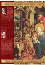 Dezember 2001 - Institut Christus König und Hoherpriester