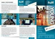 Young Generation Flyer - Fünf-Seen-Filmfestival
