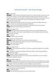 Au bord de l'anarchie – Liste des personnages - Cerbere.org