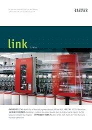 link 2 /2011 04 EVENTS L'ITMA établit les critères de jugement - Rieter