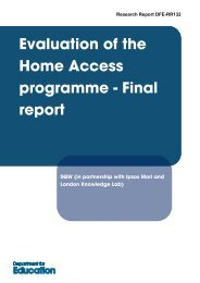 Evaluation of the home access programme - Final report - SQW