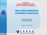 Valore della certificazione accreditata di parte terza - Cepas