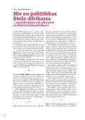 Hiv on politiikkaa Etelä-Afrikassa - Suomi-Etelä-Afrikka-seura - Page 4
