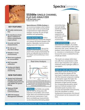 SS500e SINGLE CHANNEL H2O GAS ANALYZER - sicamedicion ...