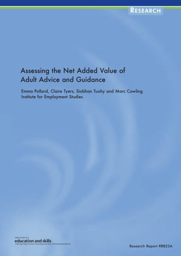 Assessing the Net Added Value of Adult Advice and Guidance
