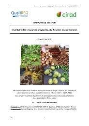 RAPPORT DE MISSION Inventaire des ressources ... - Cirad