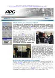 NEWSLETTER # 37 APRIL2011 - APG