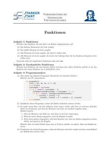 Python Funktionen