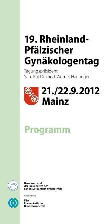 21. / 22.9.2012 Mainz 19. Rheinland- Pfälzischer ... - Coma UG