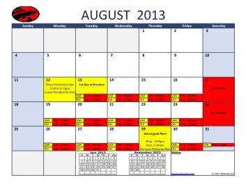 2013 Swim/Dive Schedule - Tampa Preparatory School