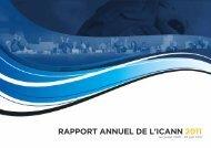 RappoRt annuel de l'ICann 2011