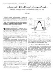 Advances in Silica Planar Lightwave Circuits - Next Generation ...