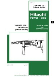 3-Mode Action - Hitachi Powertools