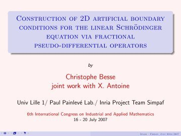 Construction of 2D artificial boundary conditions for the linear ...