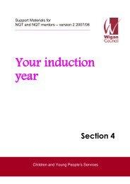 Your inductionyear - Wigan Schools Online