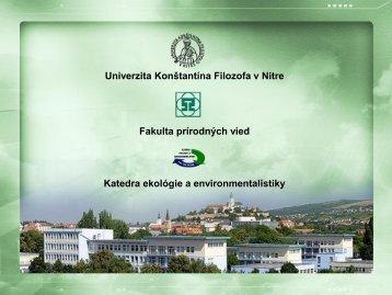 Profil KEE - Fakulta prírodných vied - Univerzita Konštantína Filozofa ...