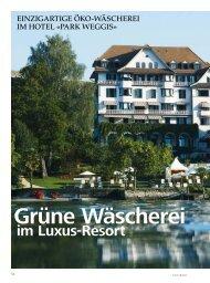 im Luxus-Resort - Schweizer Hoteljournal
