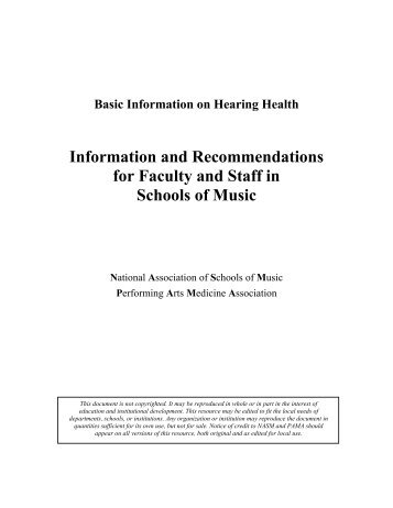 Information and Recommendations for Faculty and Staff in Schools ...