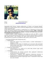 Curriculum Vitae et Studiorum – Valentina M. Bacciu - CMCC