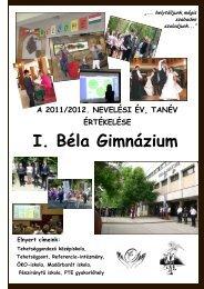 2011-2012 tanév értékelése - I. Béla Gimnázium