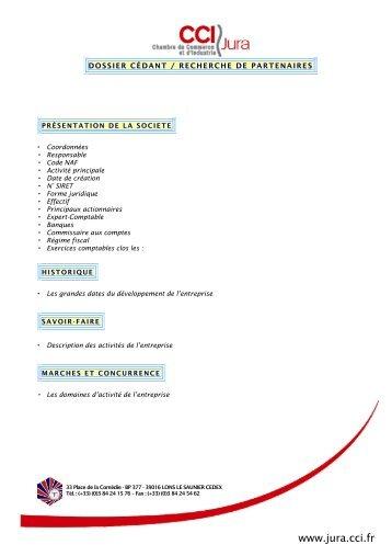 dossier de présentation - CCI du Jura