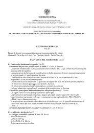 Contenuti degli insegnamenti e docenti - Master di II livello in Esperti ...